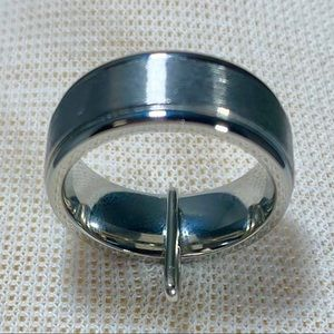 ZALES Mens Stainless Steel 8MM Band